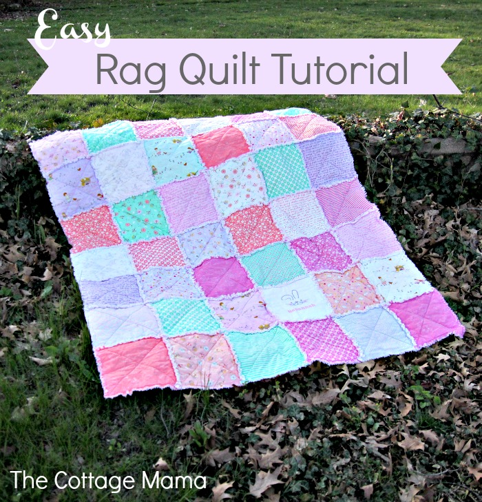 Home And Garden Some Bunny Loves You Easy Rag Quilt Tutorial