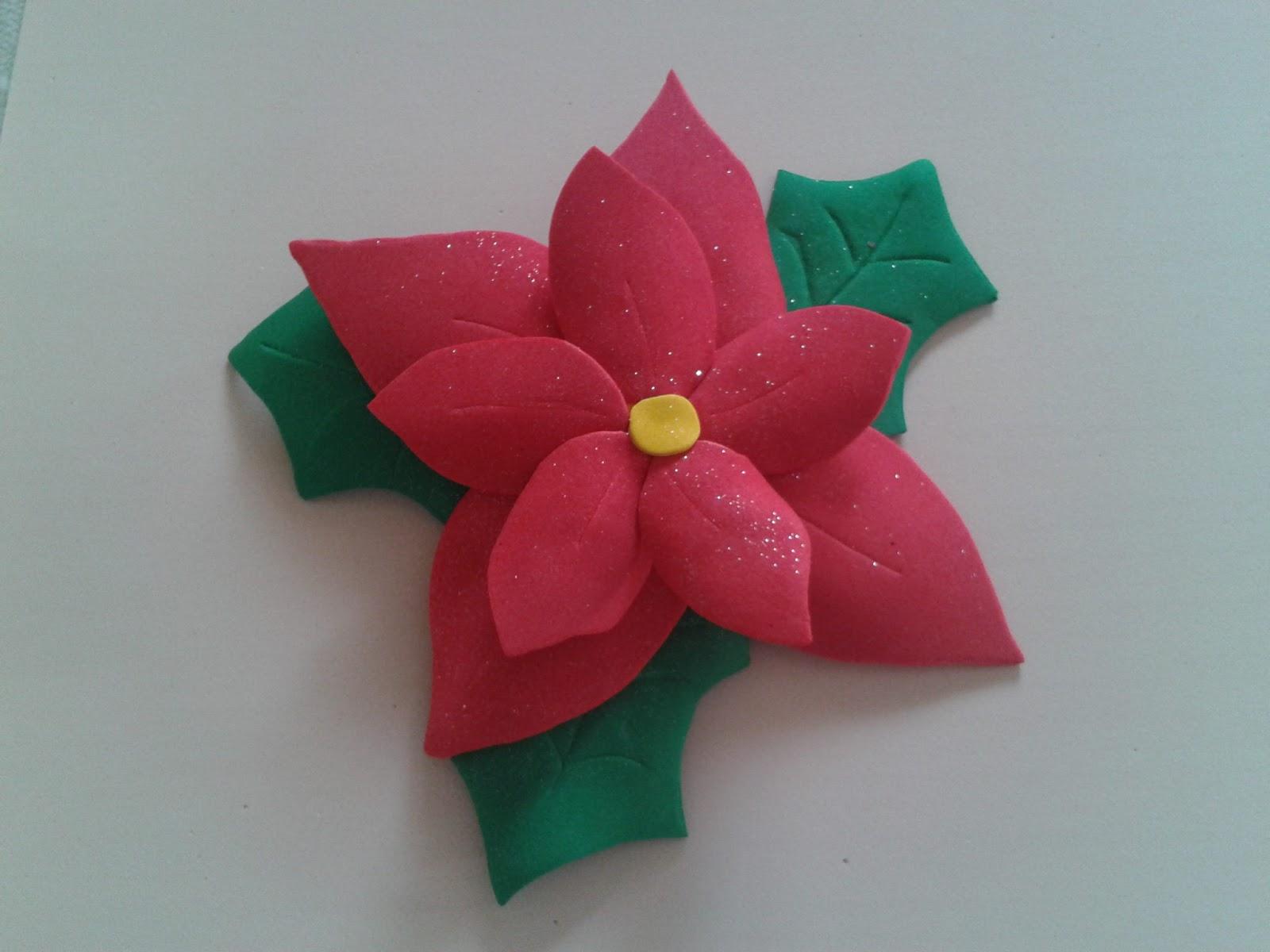 Mis cositas en goma eva flor de pascua - Flor de goma eva ...