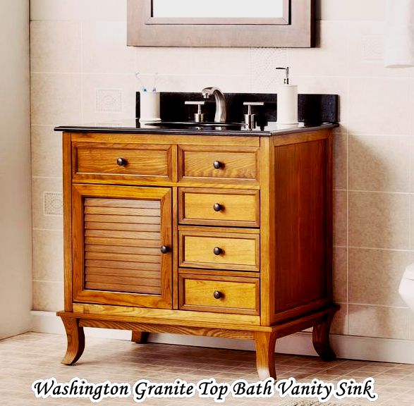 Washington Granite Top Clearance Bathroom Vanities Sink