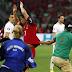 Moment crazy Cristiano Ronaldo fan runs into pitch to hug him (Photos/Video)