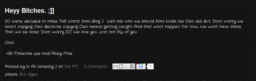 Dove Club Happenings: Slam blogs? Hmm