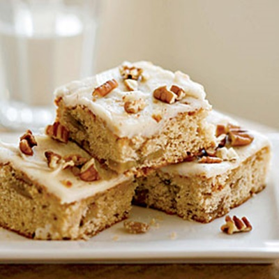 Roasted Banana Bars with Browned Butter–Pecan Frosting