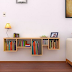Rak Buku Dinding yang Minimalis dengan Bentuk yang Unik dan Menarik