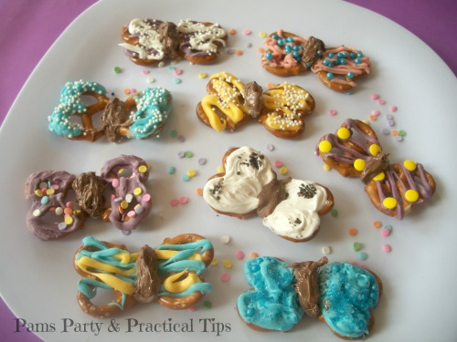 Butterfly Pretzel Snack Treats