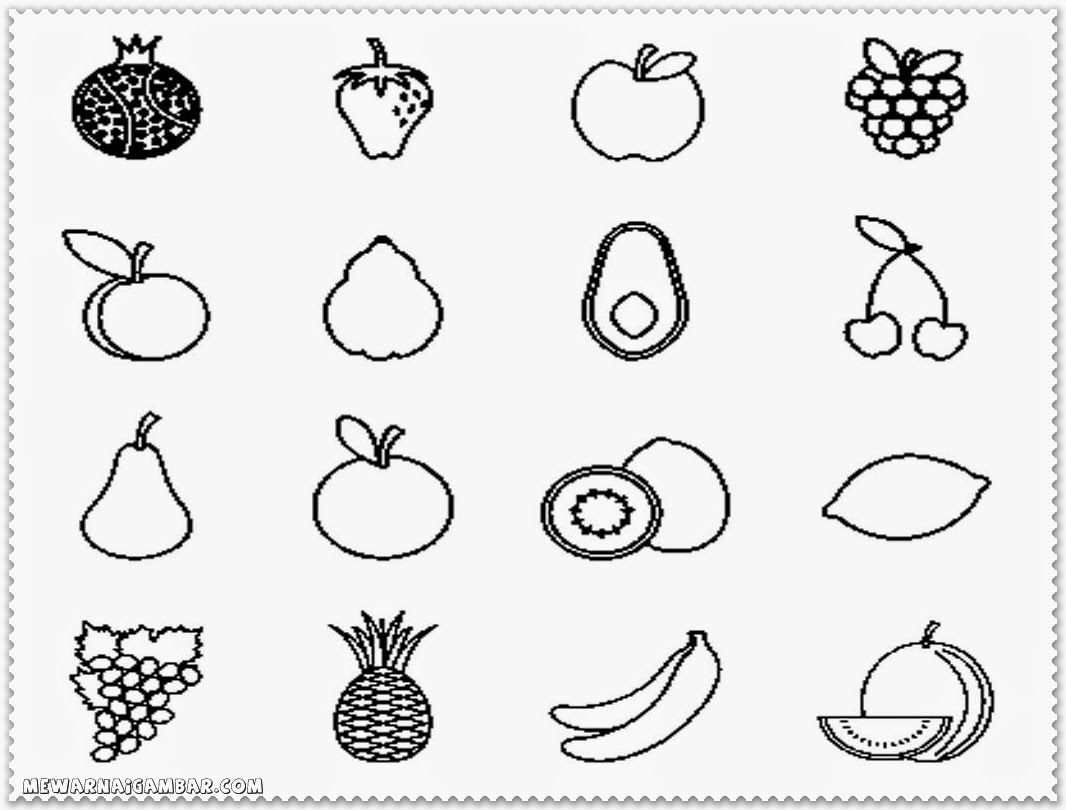 Worksheet Coloring Fruits