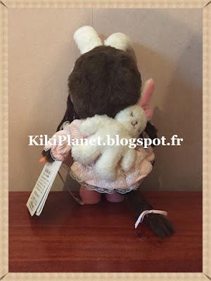 La Monchhichi Tokyo Fashion Pink Lolita Girl  Référence 242510 lapin kiki toys vintage