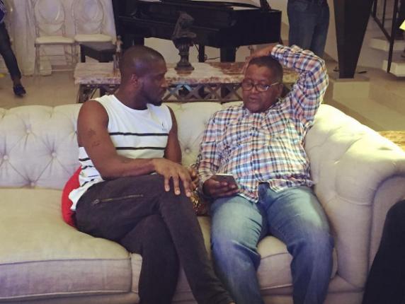 Peter Okoye Hosts Aliko Dangote In His Hew Home