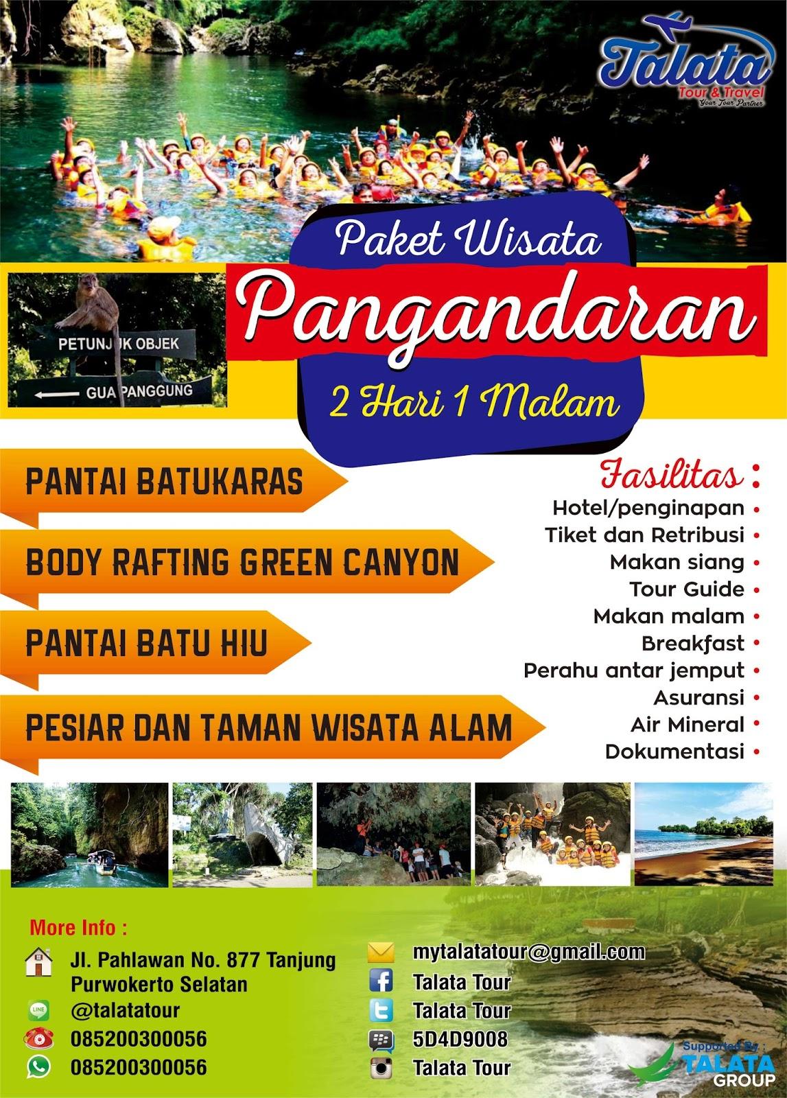 Paket Tour Pangandaran 2d1n Talata Tour And Travel
