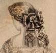 Cache-peigne, Godey's, February 1861