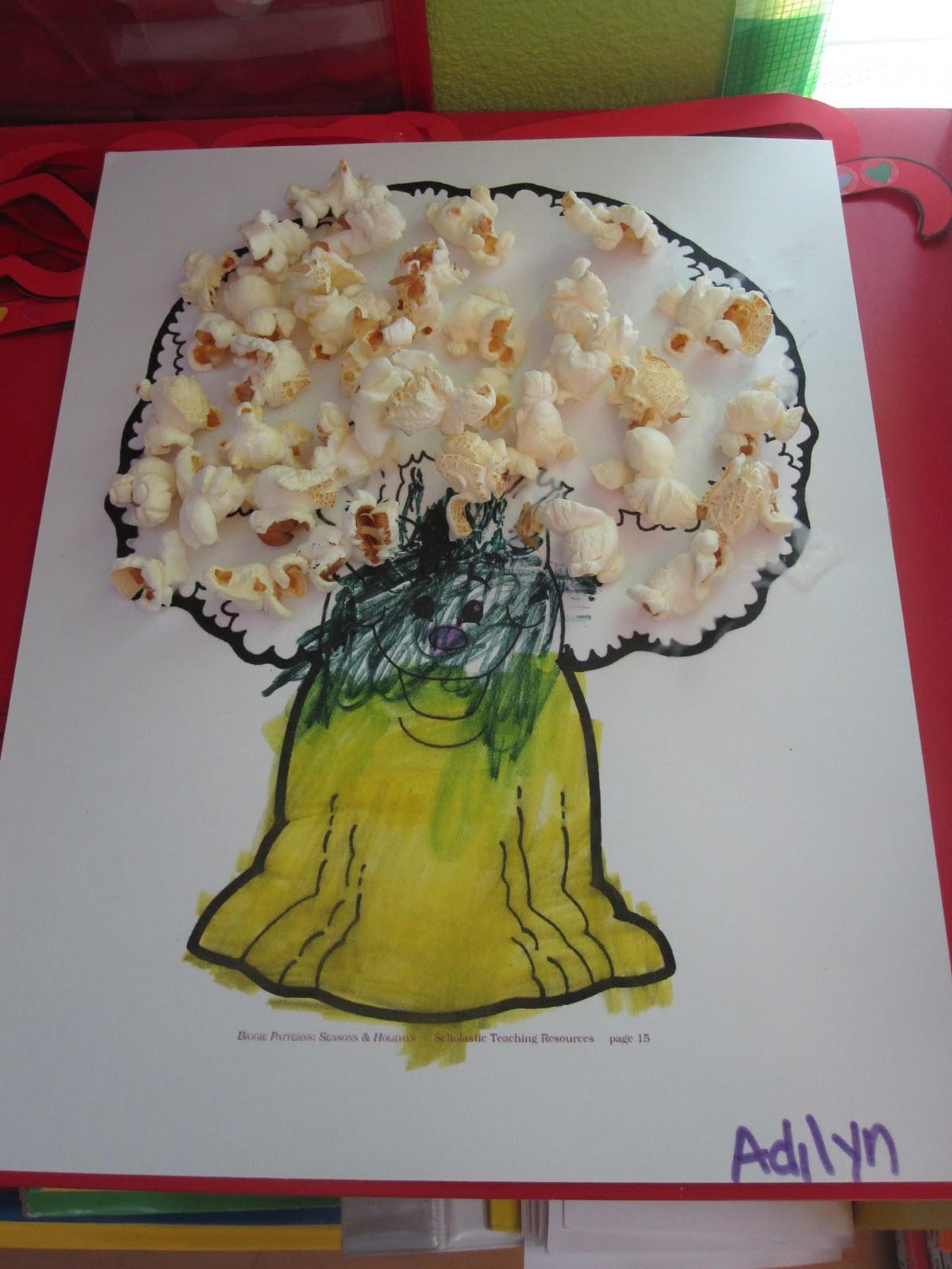 Popcorn Worksheet Preschool