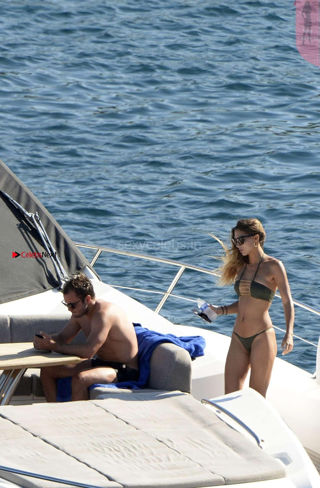 Ann Kathrin Brommel sexy tiny bikini while on a yacht in Mall Having sex WOW Topless