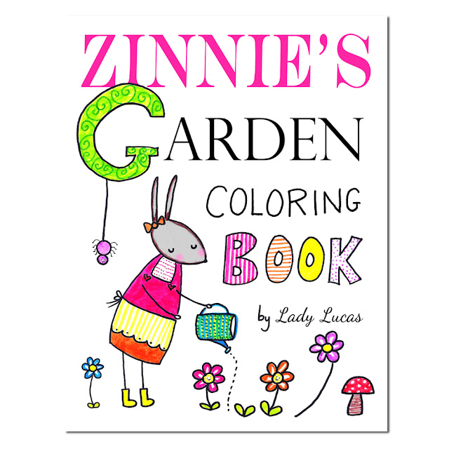 Zinnie's Garden Coloring Book Giveaway | #12DaysofCute | Linzer Lane Blog