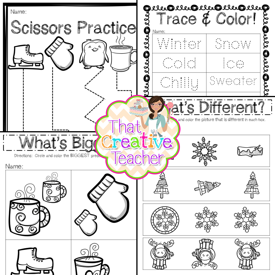 That Creative Teacher: 30 Winter Worksheets