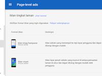 Cara Memasang Page Level Ads Iklan Yang Melayang