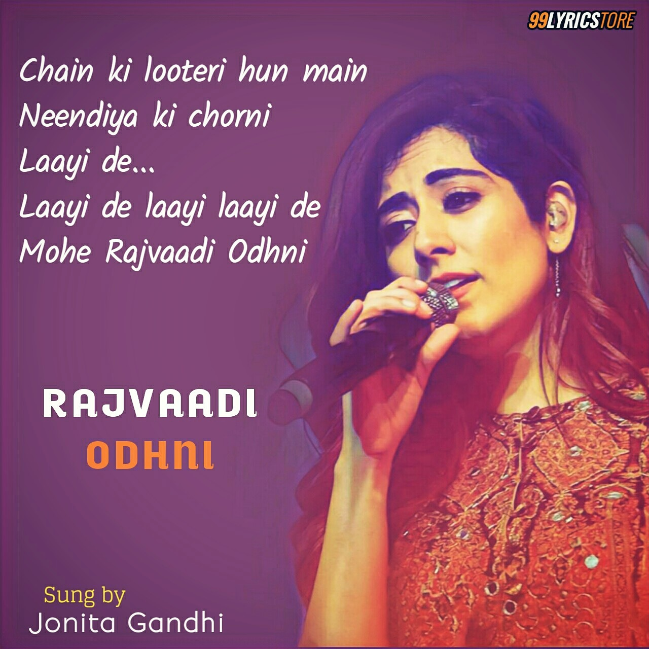 Latest song 'Raajvadi Odhni' in the voice of 'Jonita Gandhi' from bollywood movie 'Kalank'. Music composed by 'Pritam' and Lyricist of this song is 'Amitabh Bhattacharya'. Music Label is Zee Music Company.