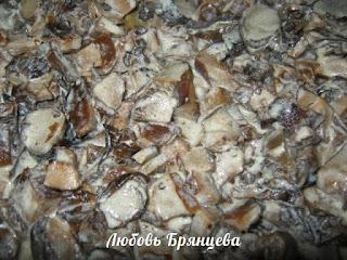 начинка из лесных грибов для пирогов