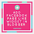 How to Add Facebook Page Like Widget In Blogger