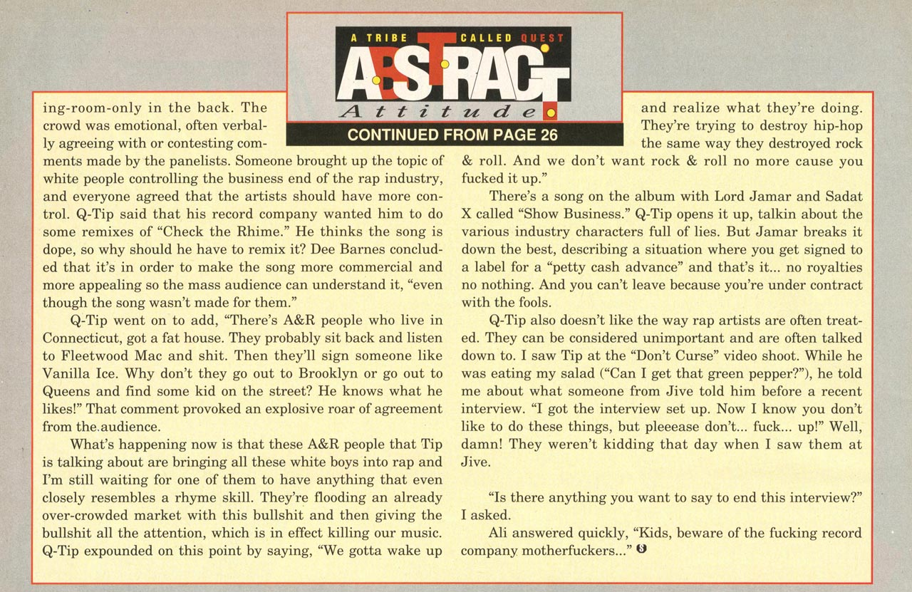 A Tribe Called Quest Interview (The Source, Nov. 19991) Page 4