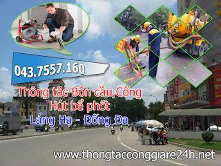 Thông tắc cống tại phường láng hạ giá rẻ,hút bể phốt,bồn cầu,chậu rửa,toilet giá rẻ tại láng hạ,đống đa,hà nội 0979.266.769