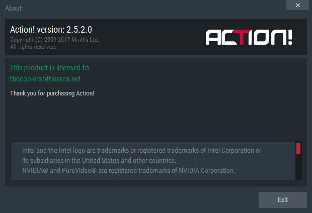 Mirillis Action 2.5.2 Serial Key