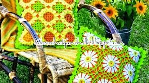 Patrones de almohadones florales al crochet