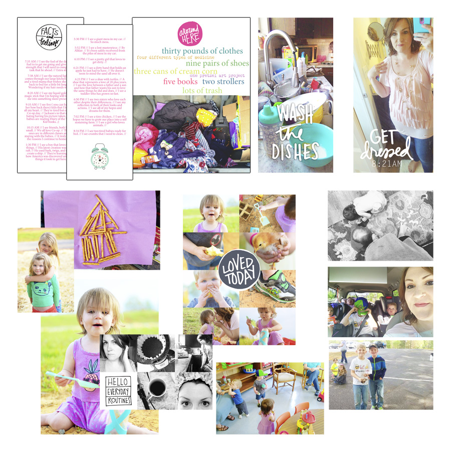 Week in the Life Monday Photos and Words Design Plan