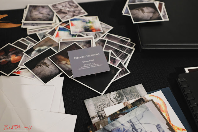 Exhibition cards for ‎Edmond Thommen‎ BLENDEDnudes at M2 Gallery Photo by Kent Johnson for Street Fashion Sydney.