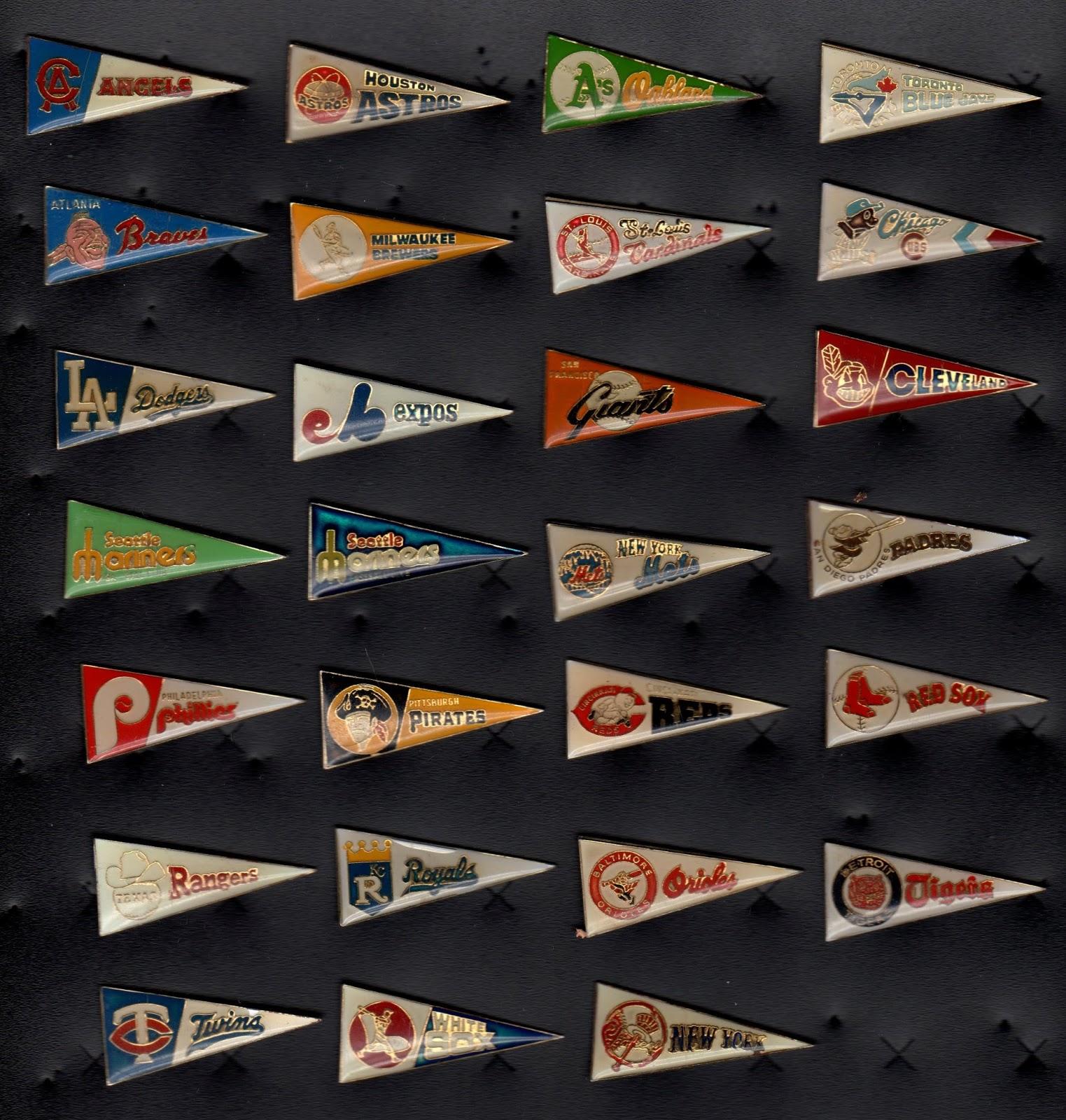 baseball pin collection display collecting : old MLB ...