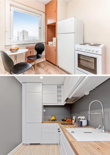 cocinas en espacios muy pequeños, cocinas en 5 metros cuadrados