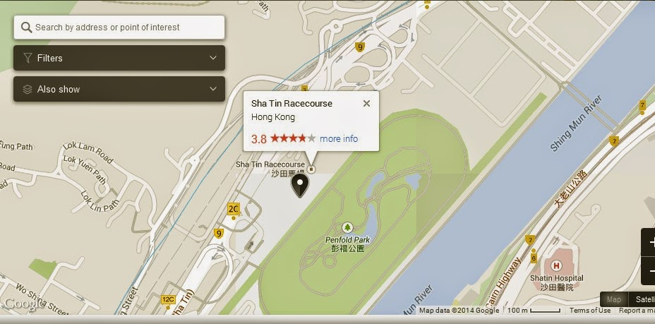 Sha Tin Racecourse Hong Kong Map,Map of Sha Tin Racecourse Hong Kong,Hong Kong Tourist Destinations Attractions,Sha Tin Racecourse Hong Kong accommodation destinations hotels map reviews photos pictures
