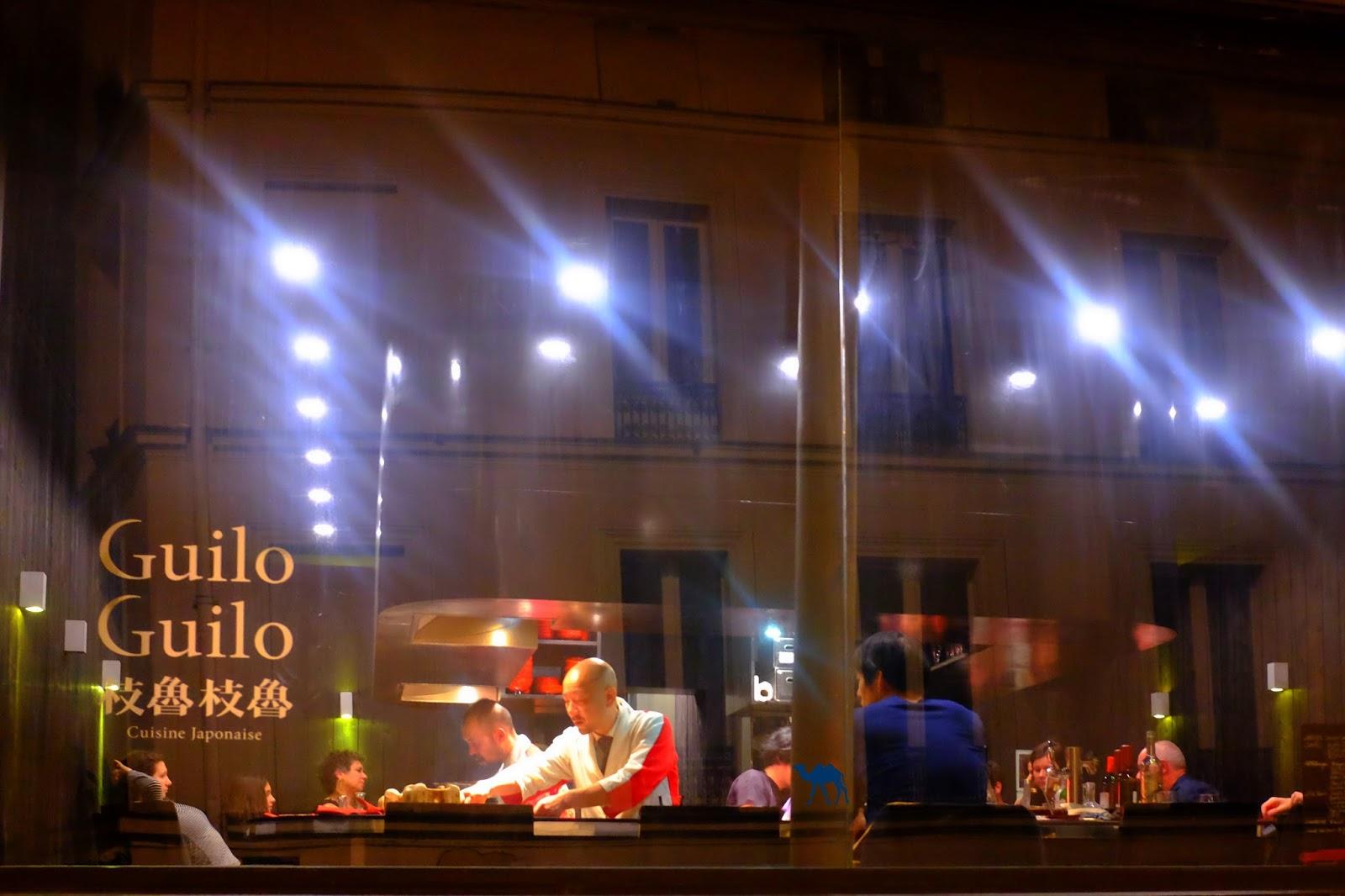 Le Chameau Bleu - Devanture du restaurant  Guilo Guilo à Paris