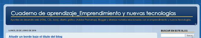 Descripción del blog personalizado