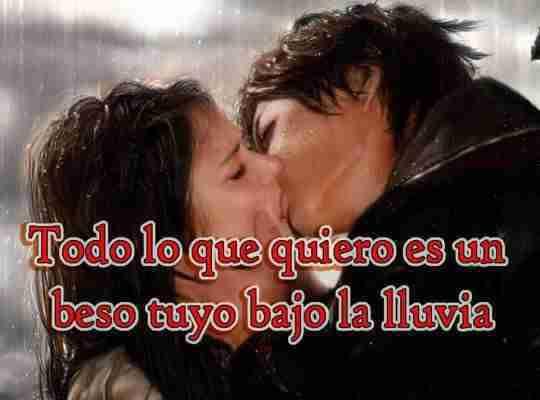Frase de: tus besos me encantan