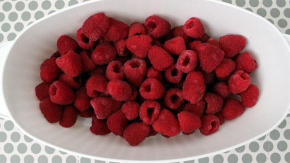 Fresh Raspberries and Fridge Coasters