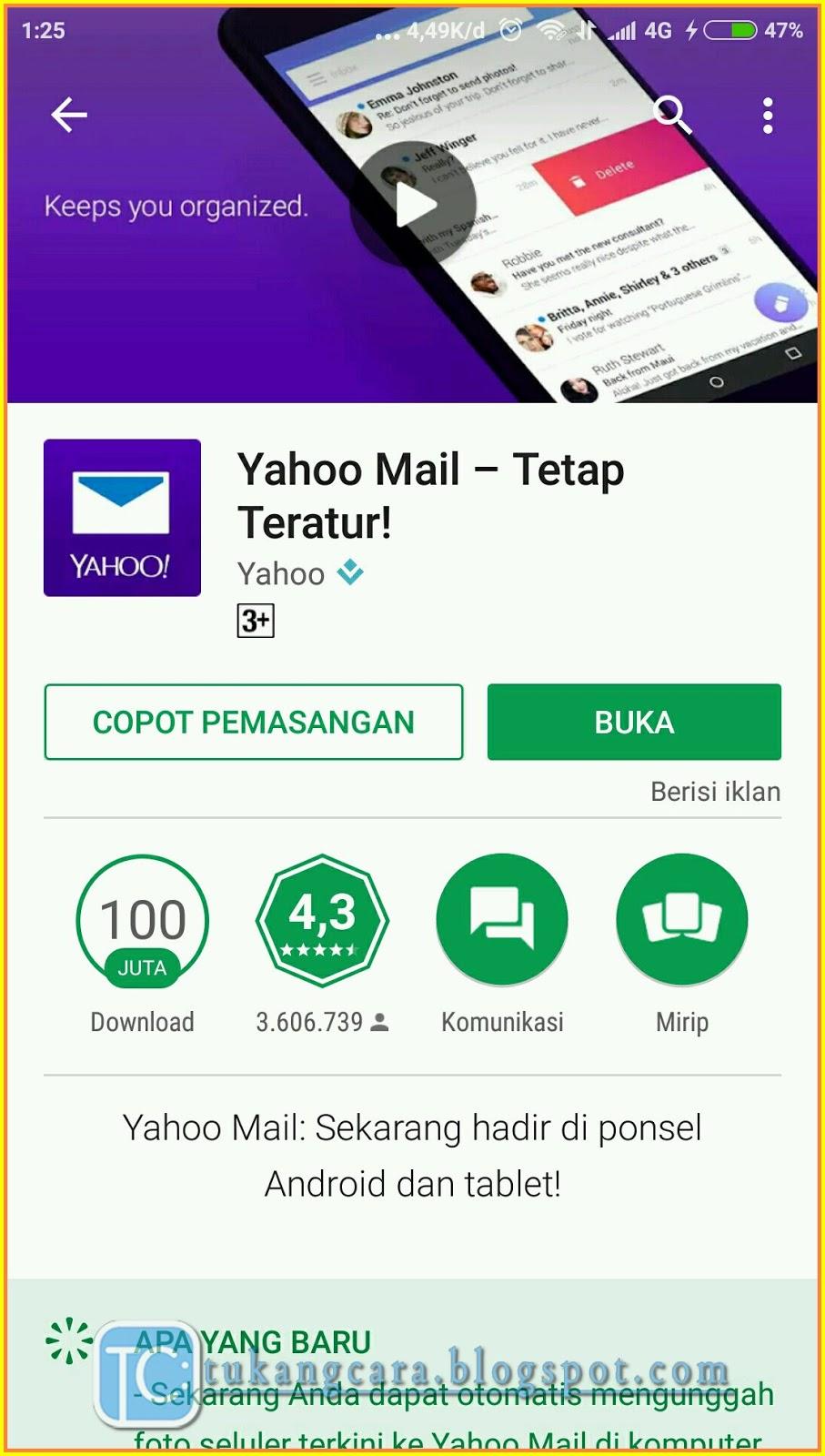 Buat Akun Email Yahoo Lewat HP Menggunakan Aplikasi Yahoo