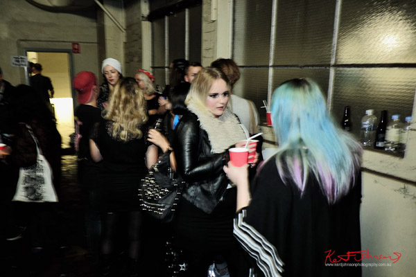 Blue and pink hair, smoking room - the gararge, ORGNL.TV - Stolichnaya Vodka, Sydney Launch Party