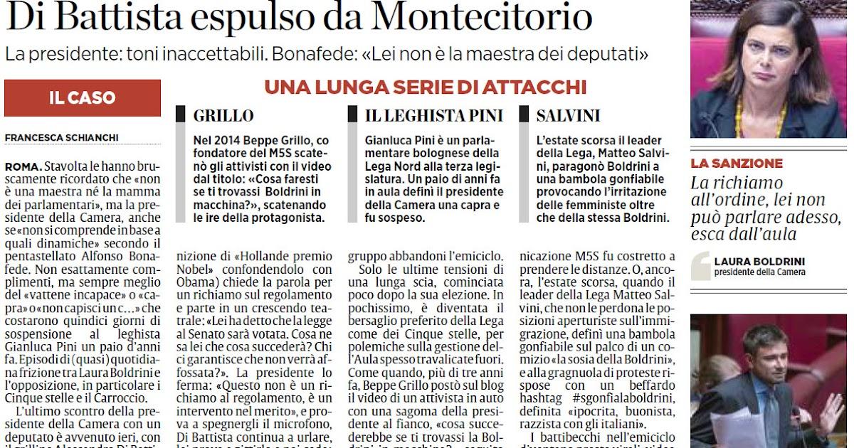Alassiofutura roma bagarre tra la boldrini e i 5stelle for Diretta da montecitorio