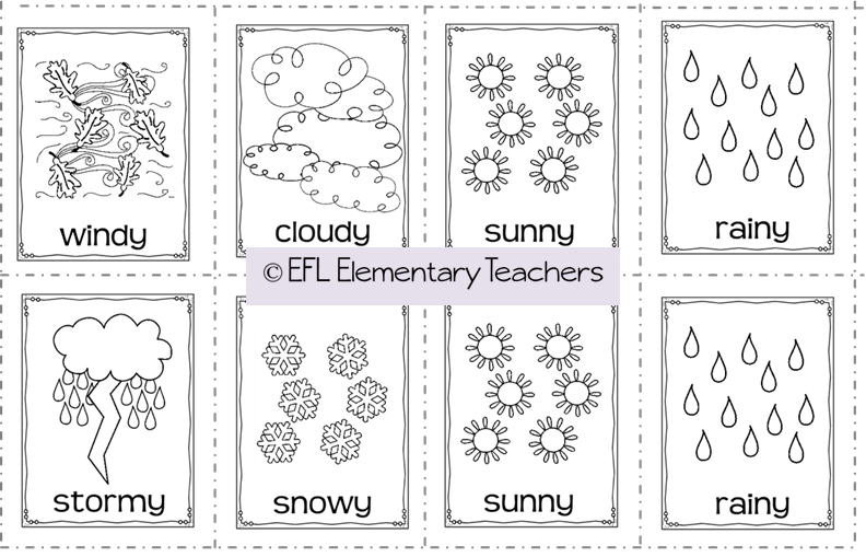 EFL Elementary Teachers: Weather Flashcards Activities for