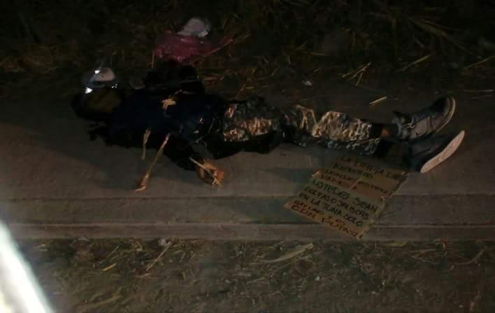 """Fotos, """"En la zona solo hay uno y es CDN putas"""", CDN dejan a hombre ejecutado, torturado y con amenaza para el CDG en San Luis"""