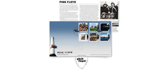 ピンク・フロイドの名盤6枚がデザインされた記念切手
