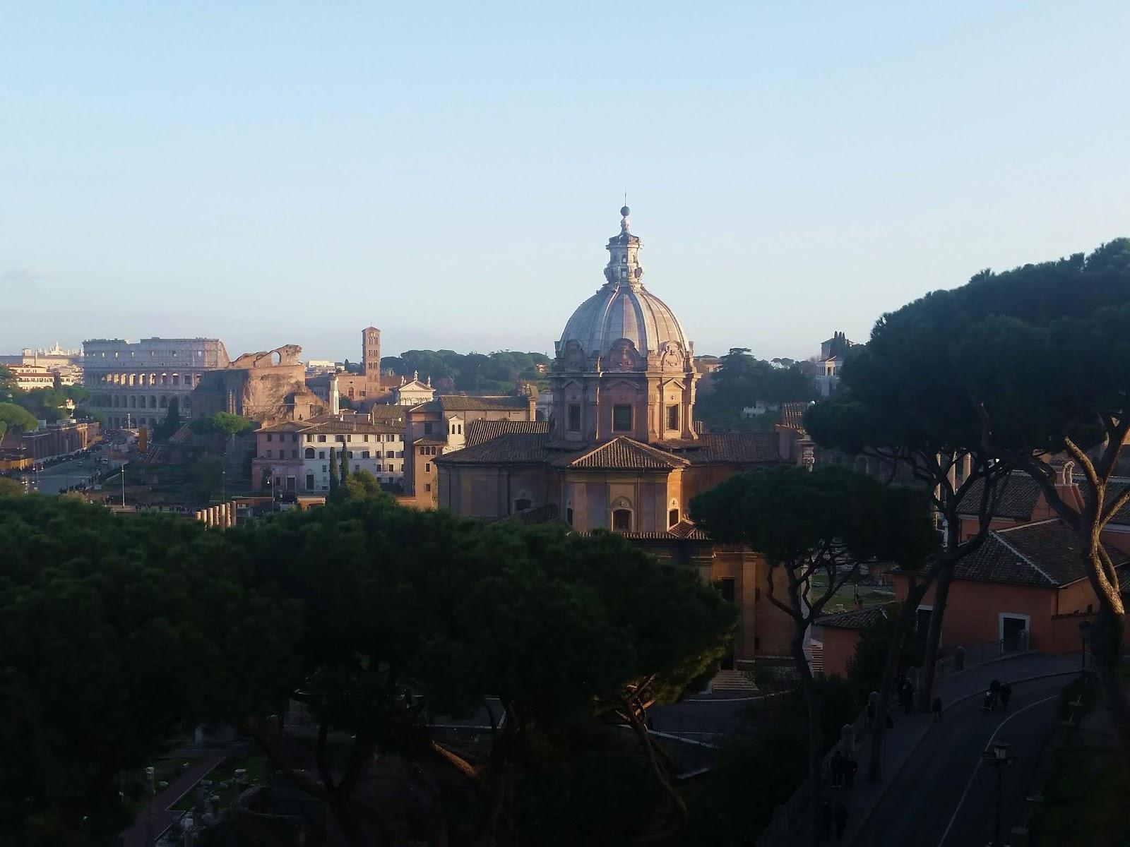 Monumento a Vittorio Emanuelle II vista panorâmica Roma