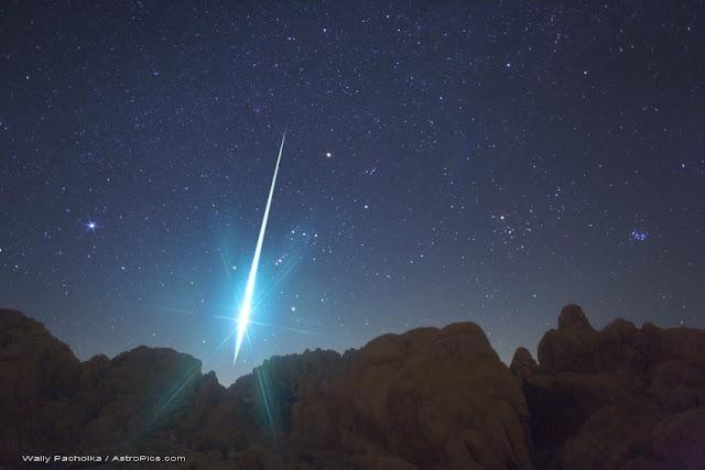Meteoro bola de fogo - chuva de meteoros Perseidas 2015