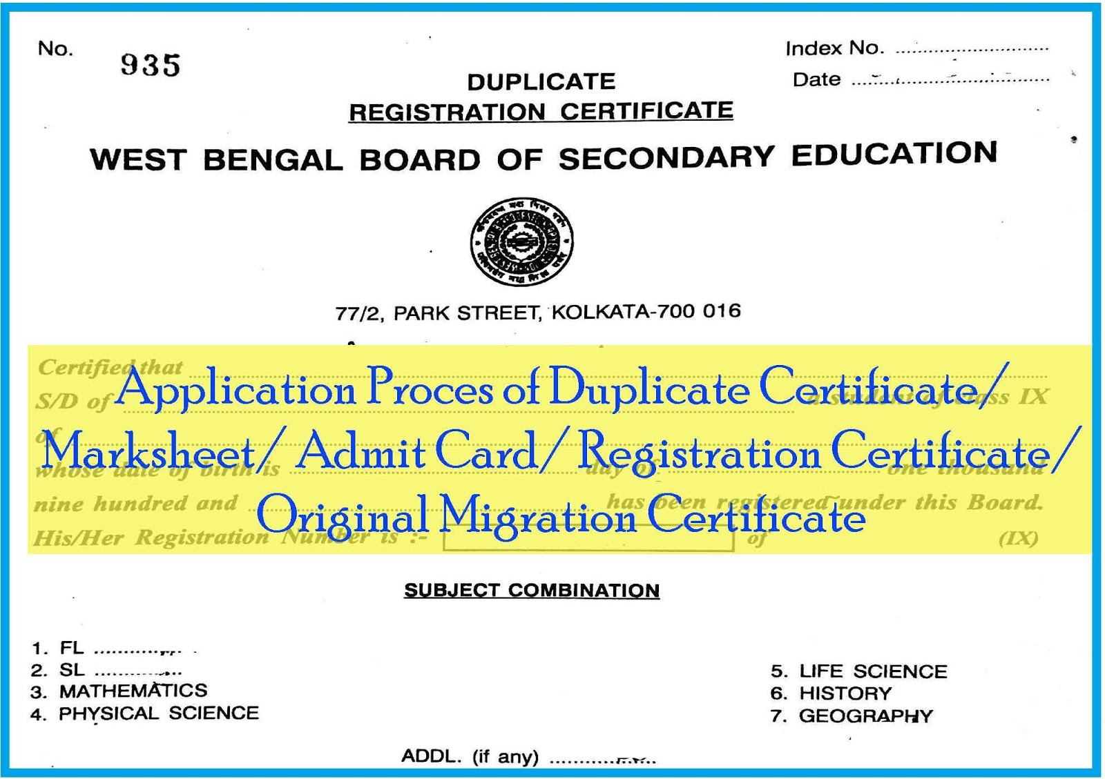 How to apply for Duplicate Certificate/ Marksheet/ Admit Card ... Application Form Duplicate Matric Certificate on english certificate, ssc certificate, mbbs certificate, science certificate, ielts certificate, school certificate, scottish qualifications certificate, engineering certificate, technical certificate, a level certificate,