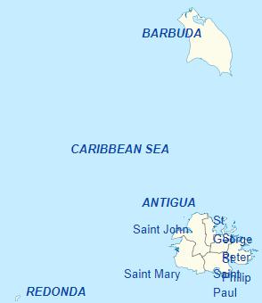Pembagian wilayah administratif Antigua dan Barbuda