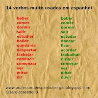 14 VERBOS MUITO USADOS EM ESPANHOL, verbos espanhol, verbos espanhois, aprender espanhol, dicas de espanhol, curso de espanhol, espanhol