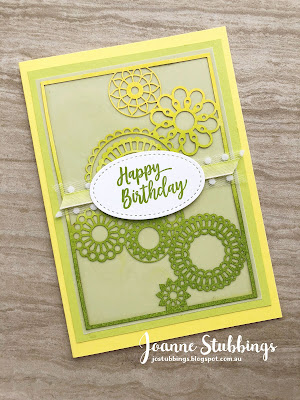 Jo's Stamping Spot - ESAD 2018 Annual Catalogue Launch Blog Hop using Pineapple Punch and Delightfully Detailed DSP by Stampin' Up!