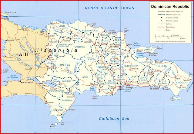 Gambar Peta politik Republik Dominika