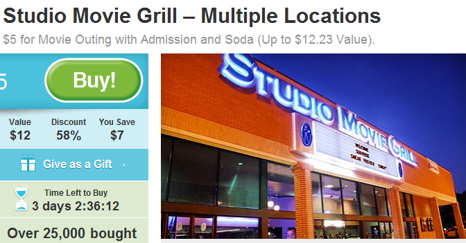 Studio Movie Grill Coupon go to abegsuble.cf Total 24 active abegsuble.cf Promotion Codes & Deals are listed and the latest one is updated on November 25, ; 5 coupons and 19 deals which offer up to 50% Off, $2 Off, Free Gift and extra discount, make sure to use one of them when you're shopping for abegsuble.cf