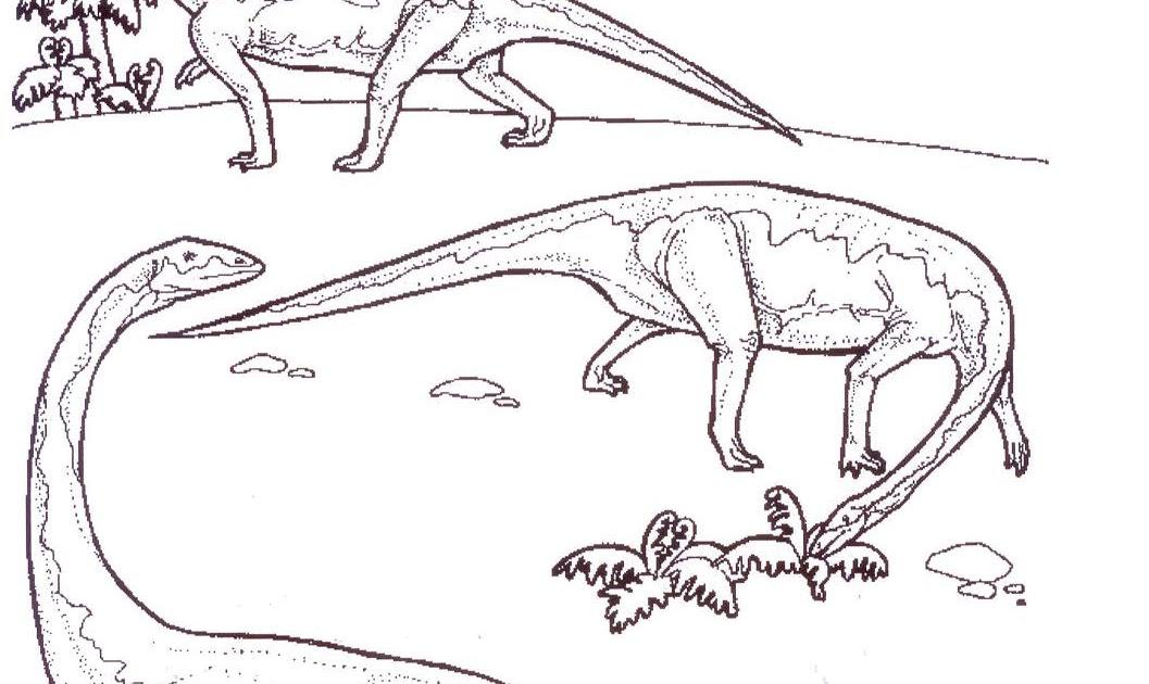 Dinosaurio Para Colorear Para Para 2 Saurios Para Online: Dibujos De Dinosaurios Para Colorear E Imprimir