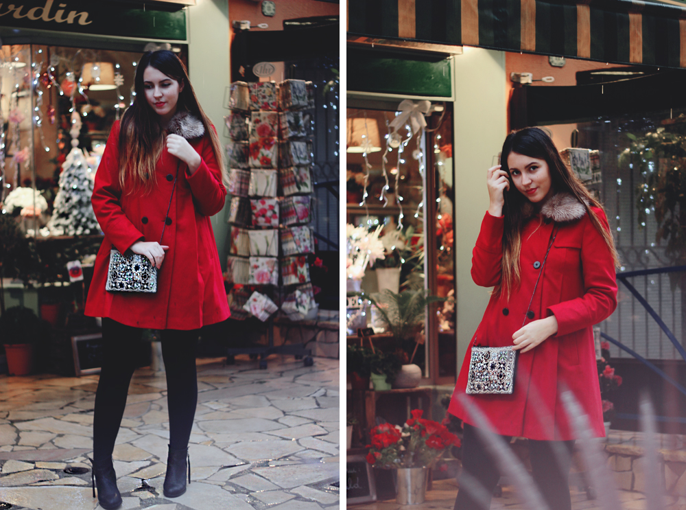 monsoon red coat winter outfit
